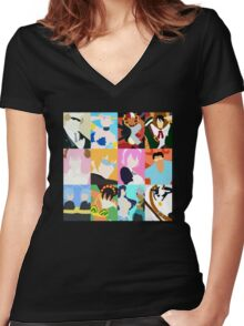 Fairy Tail Zodiac Women's Fitted V-Neck T-Shirt