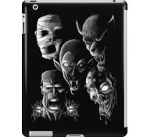 Monsters - Vampire, Werewolf, Zombie, Mummy and Frankenstein iPad Case/Skin