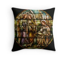 Roundel with Three Angels Throw Pillow