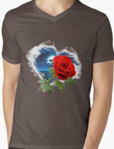 Smokey Rose Mens V-Neck T-Shirt