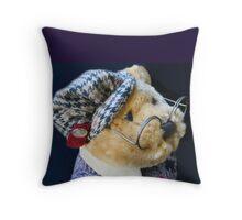 Professor Bear Throw Pillow