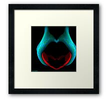 Heart In Hands abstract Framed Print