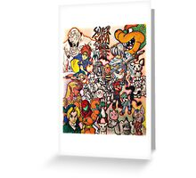 Super Smash Bros Melee Collage Greeting Card