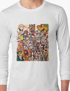 Super Smash Bros Melee Collage Long Sleeve T-Shirt