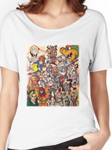 Super Smash Bros Melee Collage Women's Relaxed Fit T-Shirt