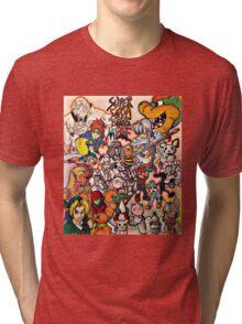 Super Smash Bros Melee Collage Tri-blend T-Shirt