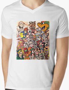Super Smash Bros Melee Collage Mens V-Neck T-Shirt