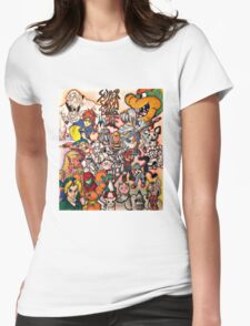 Super Smash Bros Melee Collage Womens Fitted T-Shirt