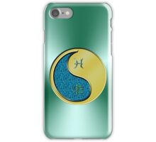 Pisces & Goat Yin Metal iPhone Case/Skin