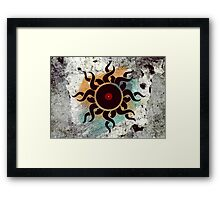 Love Vinyl Records - Music Art Prints with Grunge Texture - T-Shirt and Stickers Framed Print