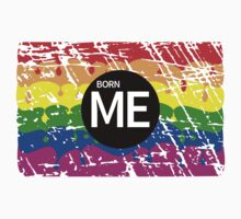 Gay Pride Rainbow Born Me One Piece - Short Sleeve