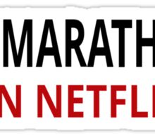 I Do Marathons (On Netflix) Sticker