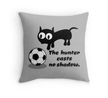 Cat with Football Throw Pillow