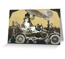 Steampunk Alice Greeting Card