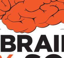 My brain is 85% Song Lyrics Sticker