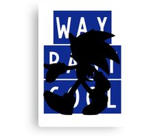 SONIC IS WAY PAST COOL Canvas Print