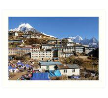 Namche Bazar, Nepal Art Print