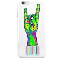 HEAVY METAL RULES - color swirls iPhone Case/Skin