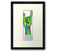HEAVY METAL RULES - color swirls Framed Print