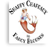 Snappy Chapeaux and Fancy Blouses Canvas Print