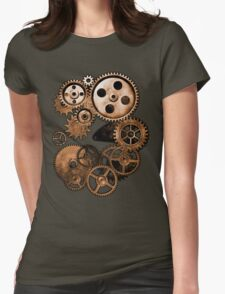 Steampunk Gears Womens Fitted T-Shirt