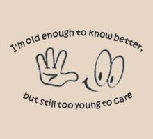I Am Old Enough to Know Better and Still Too Young To Care by taiche