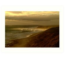 Sunburst 13th Beach,Bellarine Peninsula Art Print