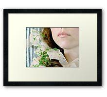 ~ daisy ribbon ~ Framed Print