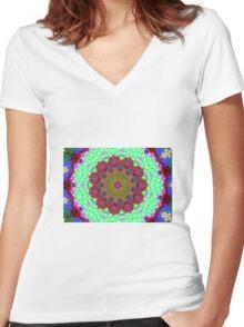 Mandalas 9 Women's Fitted V-Neck T-Shirt