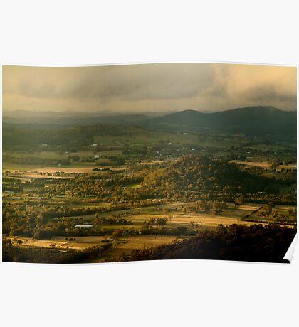 Hanging Rock, Macedon Ranges Poster