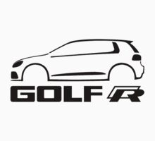 VW Golf R silhouette Black Kids Tee