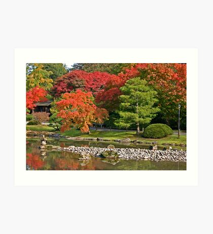 Fall at Seattle Japanese Gardens Art Print