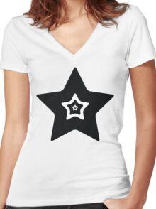 Star 5 Women's Fitted V-Neck T-Shirt