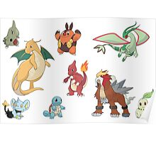 Pokemon group Poster