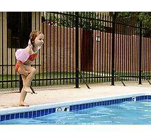 Learning To Cannonball Photographic Print