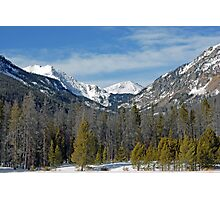 Bowen Mountain in Winter Photographic Print