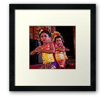 Welcome Dance, Ubud, Bali Framed Print