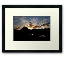 Mount Coxcombe Sunset Framed Print