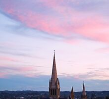 Dusk over Sacred Heart Cathedral by Hicksy