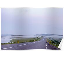 Low fog near Gullfoss Poster