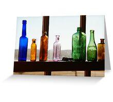 Bottles, Silverton Cafe, Outback Australia Greeting Card
