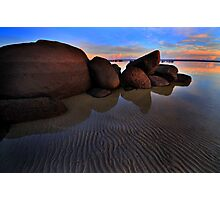 Tide Lines on the Rock Photographic Print