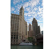 Down The Old Chicago River Photographic Print