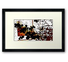 The Bloodshot Pixelization Framed Print