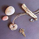 Still life with old key (close-up detail) by Elena Kolotusha