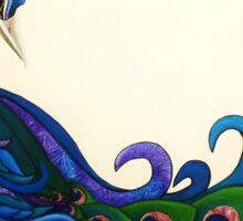 """""""Cauda Pavonis"""" the peacock's tail Sticker"""