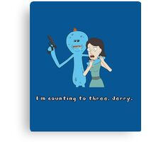 Mr. Meeseeks: I'm Counting To Three, Jerry Canvas Print