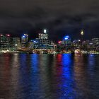 Sydney CBD at night by Rod Kashubin