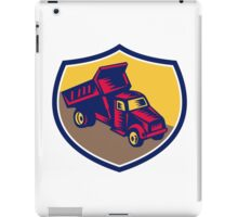 Dump Truck Shield Woodcut iPad Case/Skin