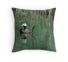 White-headed Duck Throw Pillow